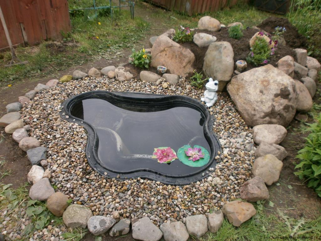 как вкопать пластиковый пруд пошаговая инструкция