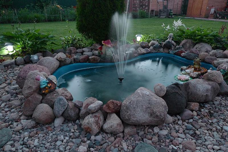 Маленький фонтан своими руками на даче