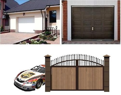 Распашные гаражные ворота с электроприводом своими руками
