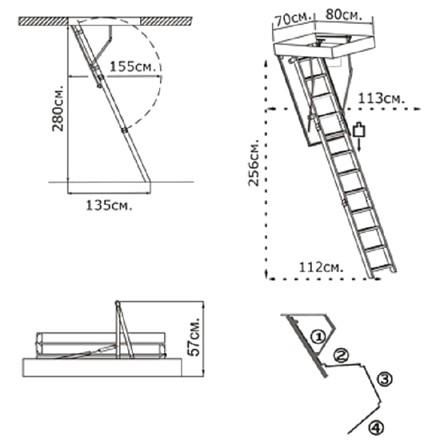Loft-to-Loft-Dimensionen