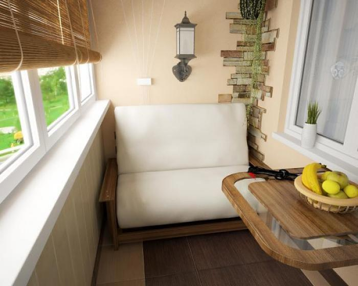 Дизайн диван на лоджии