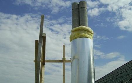 Утепление-дымохода-из-асбестоцементной-трубы