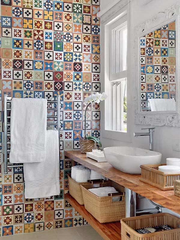 Bathroom ceramic tile design