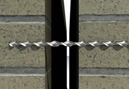 Соединение слоев кирпичной кладки стены с помощью