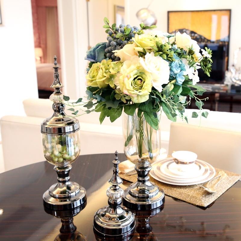 साफ-गिलास फूलदान-समकालीन-vases-सजावटी-फूलदान थोक