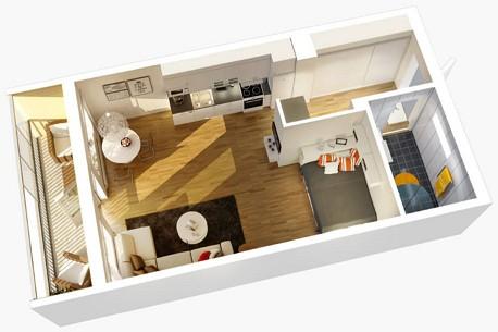 dizajn-pryamougolnoj-kvartiry-studii1 прямоуг