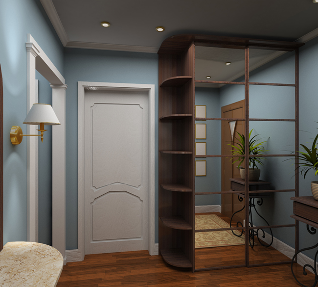 3D render  interior of vestibule