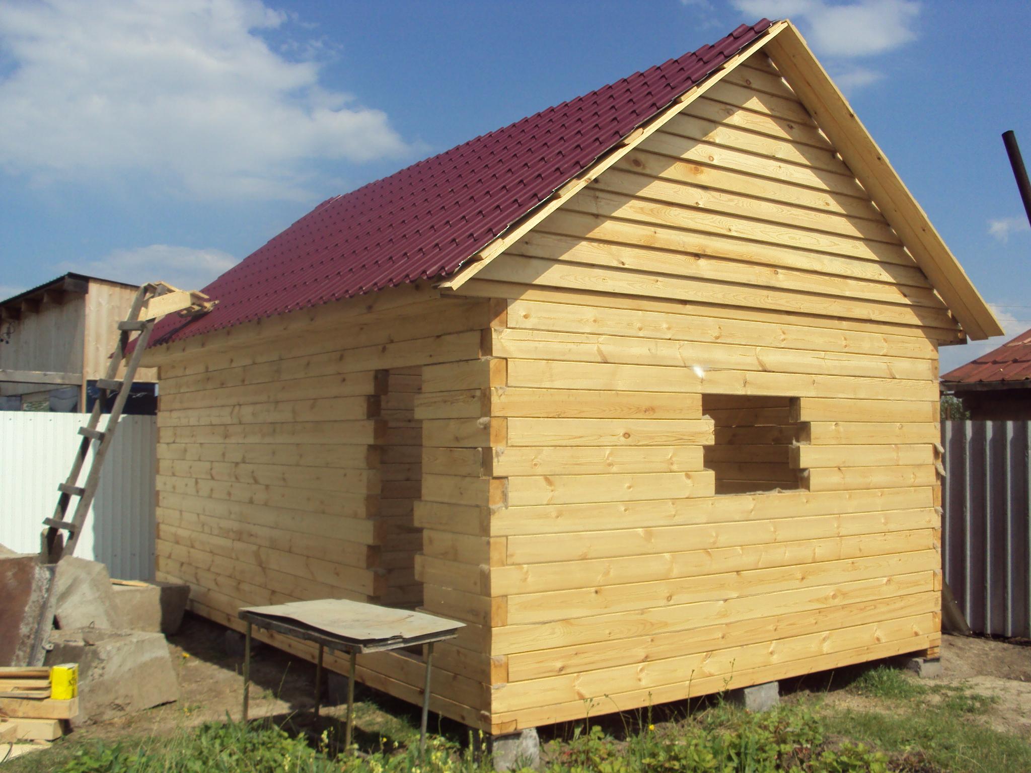 Строительство бань и домов из бруса своими руками