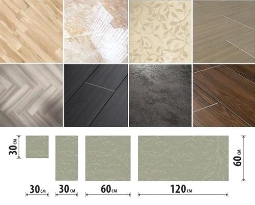 Keramičke granitne pločice-na-kuhinjske varijante dizajna