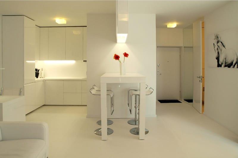 Пример-зонирования-кухни-студии-освещением-2