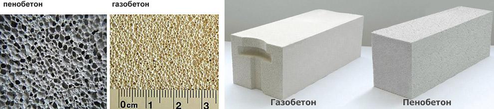 Usporedba blokova pjenastog bloka s betonom s gaziranim slojem Slika 1