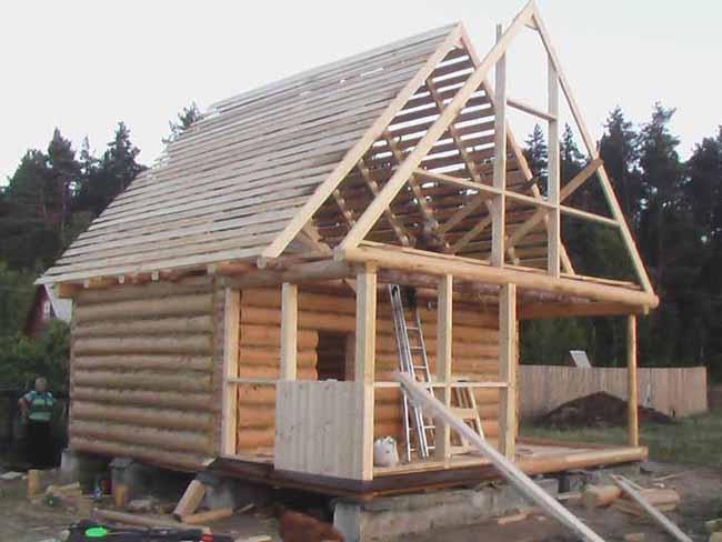 Как построить крышу для бани своими руками
