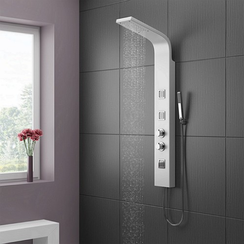 cassellie white shower tower панель душ